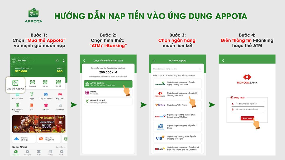 Nạp qua thẻ ATM/ I-Banking